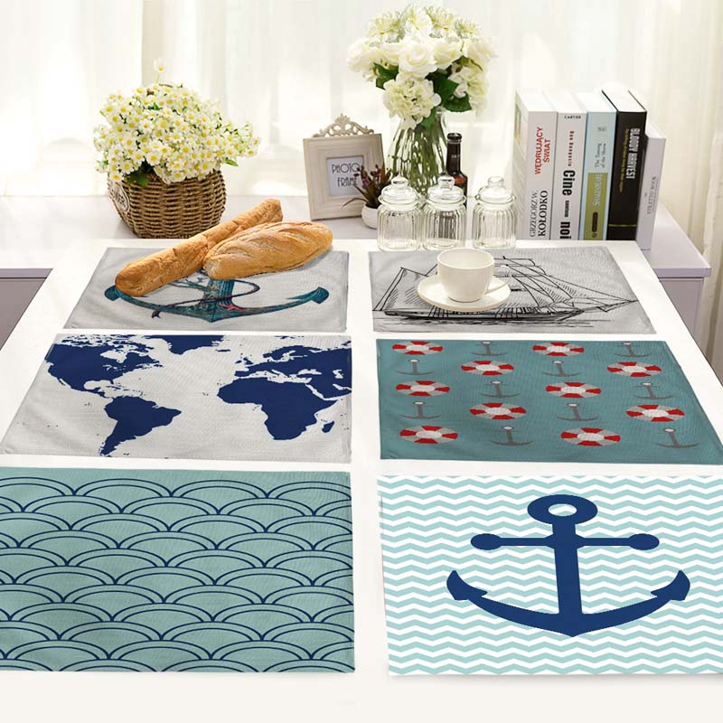 SALE Pattern Table Dinner Burlap Napkin Placemats For Wedding Party Home Decor Table Napkins 42*32cm MS0008