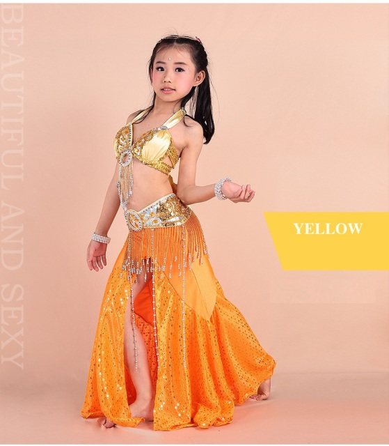 5a248e84d Kids Girl Oriental Bollywood Indian Dance Wear Children Belly ...