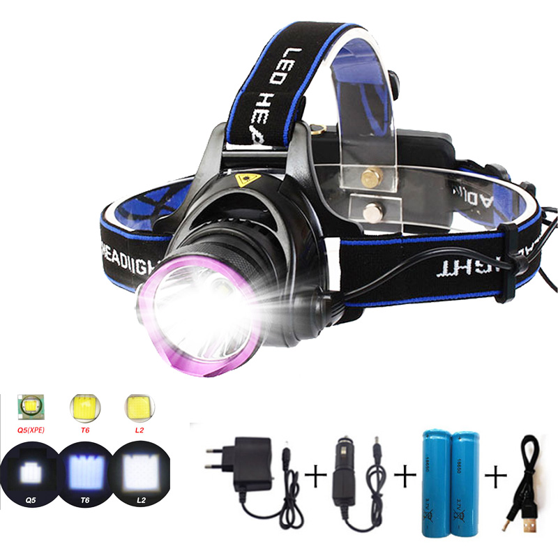 High Power Led Headlamp Headlight Q5 T6 L2 LED Head Lamp Torch flashlight lampe frontal bright for Hunting Fishing camping high power 5 cree led headlamp xm l t6 q5 headlight 15000 lumens head lamp camp hike frontale flashlight fishing hunting lights