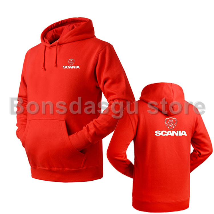 scania truck logo 4s shop overalls fall and winter hedging pullover hooded sweatshirt for women and men