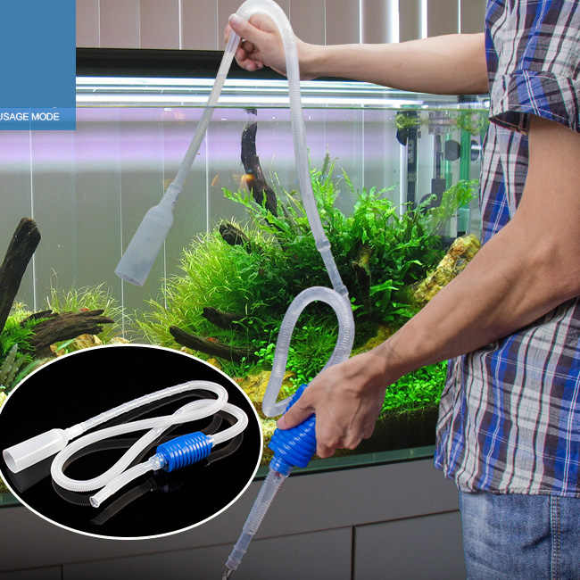 Hot Sale 1.8m Siphon Gravel Suction Pipe Filter Aquarium Fish Tank Vacuum Water Change Exchange Cleaner Siphon Simple Practical