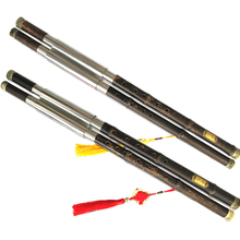 Professional double tube Bamboo Bawu Flute  F +  B Flat Tone Or  C + G Key Transverseal Fauta  with Case
