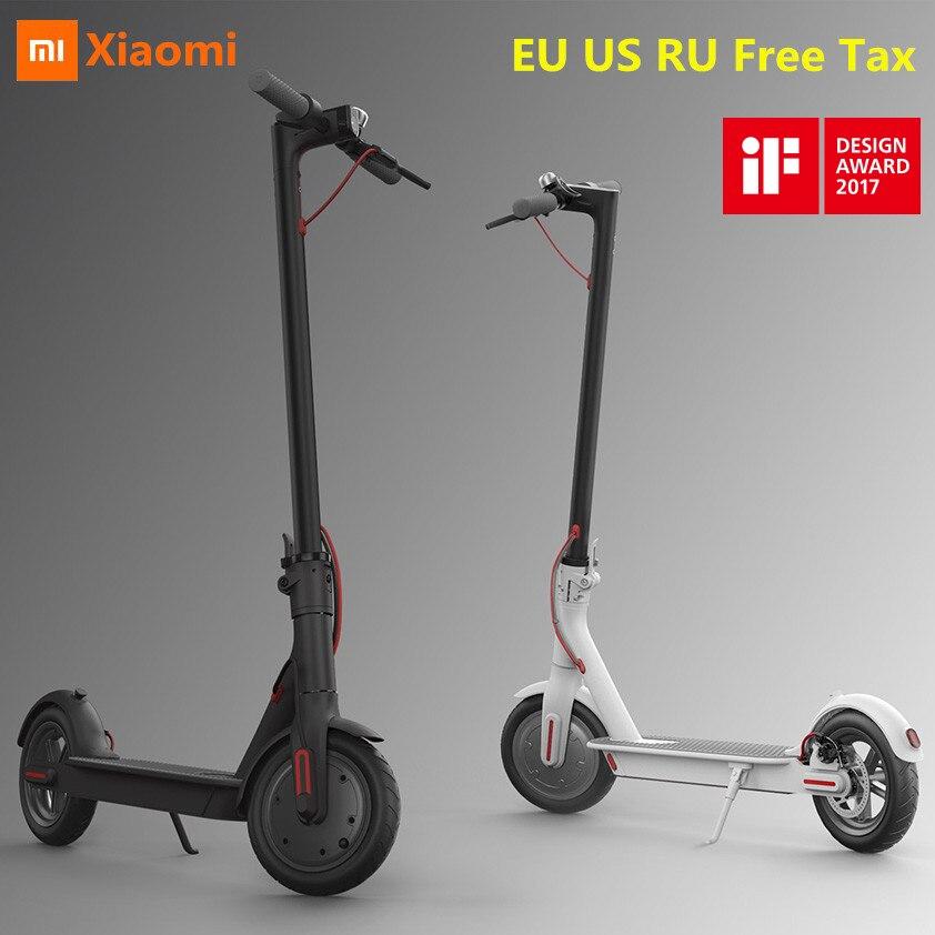 EU US RU Tassa di Trasporto Originale Xiaomi Norma Mijia M365 Pieghevole Smart Scooter Elettrico Leggero Hoverboard Skateboard 25 km/h con APP