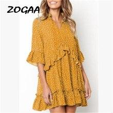 Polka Dot Ruffle Wrap Short Women Dress Half Sleeve Sundress Summer New 2019 V-neck Elegant Fashion Beach Mini Dress Vestidos