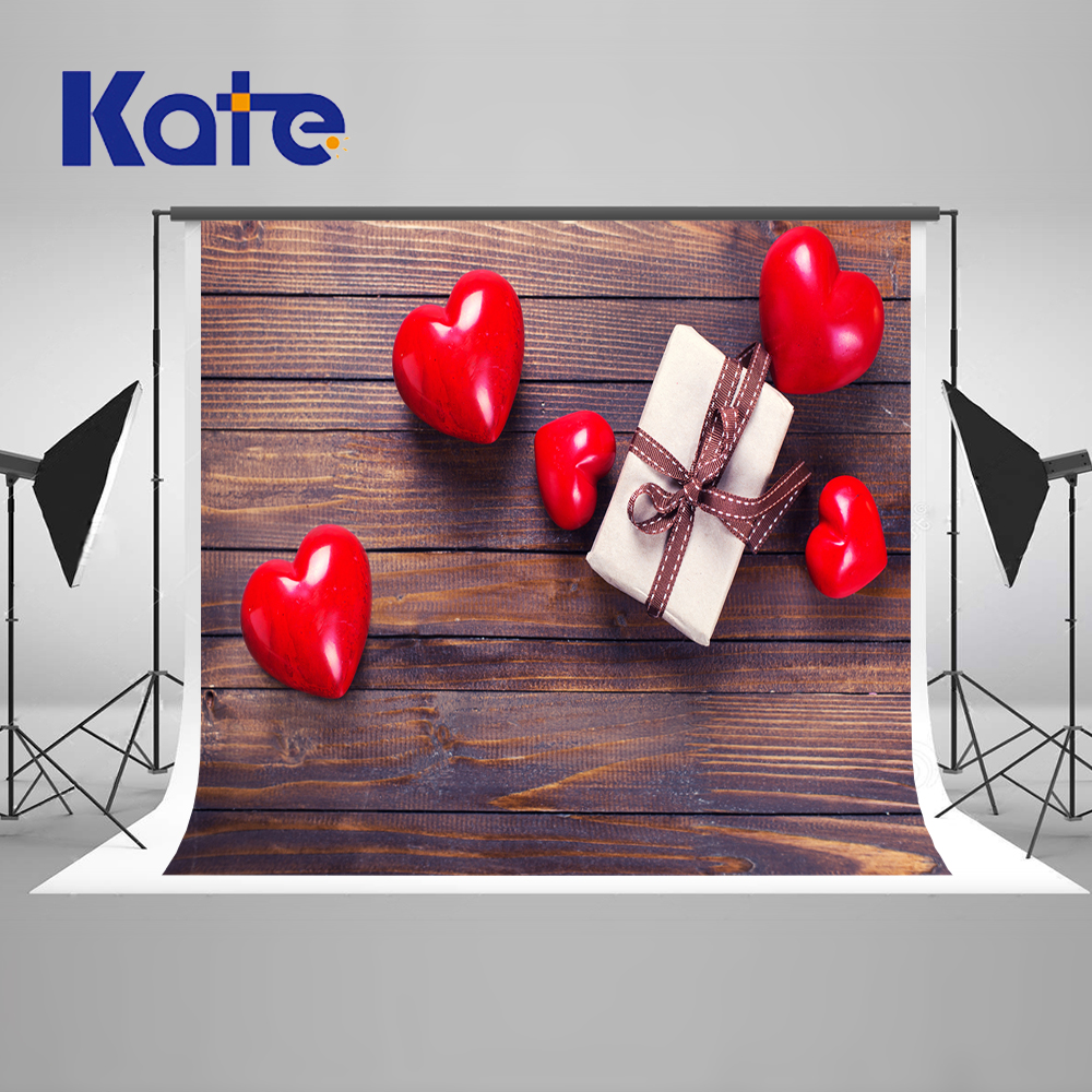 ФОТО 5x6.5FT Kate Gift Box Love Backdrops Photocall Wedding Wood Baby Photography Children Backgrounds for Photo Studio