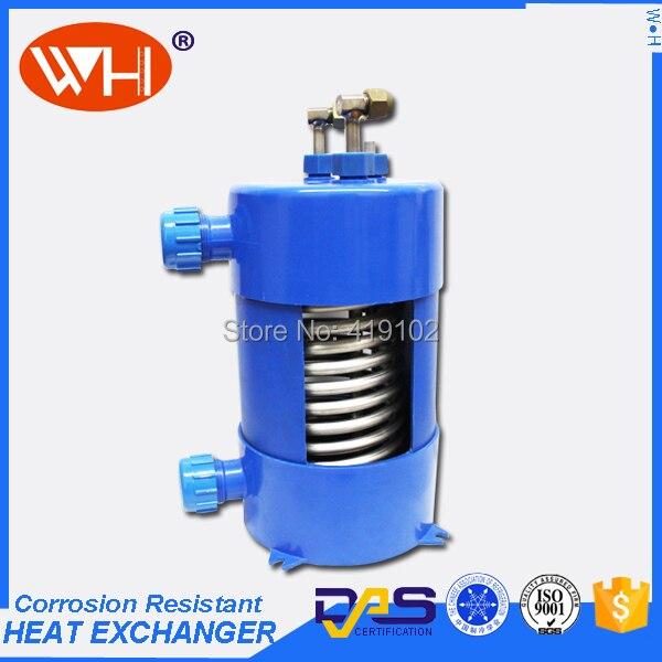 Whc 1 0dyl titanium heat exchanger in heat pump water for Fish tank water cooler