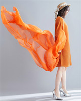 Spring and summer high end temperament large size slim chiffon irregular dress ISSEY pleated dresses chenrui