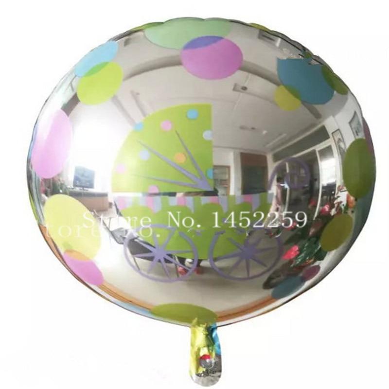 XXPWJ 5pcsNew Wholesale Wedding Birthday Balloon printing aluminum balloons 18 i
