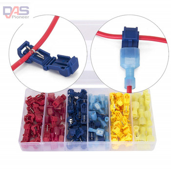 цена 120 PCS T Tap Electrical Connectors Quick Wire Splice Taps and Insulated Male Quick Disconnect Terminals (Yellow, Red Blue) онлайн в 2017 году