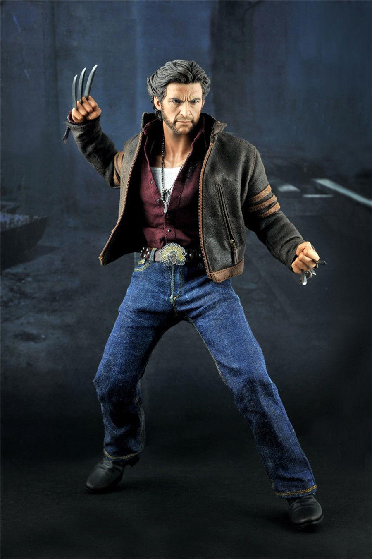 1/6 HOT FIGURE TOYS KO version X Men Origins Wolverine Logan suit Hugh Jackman