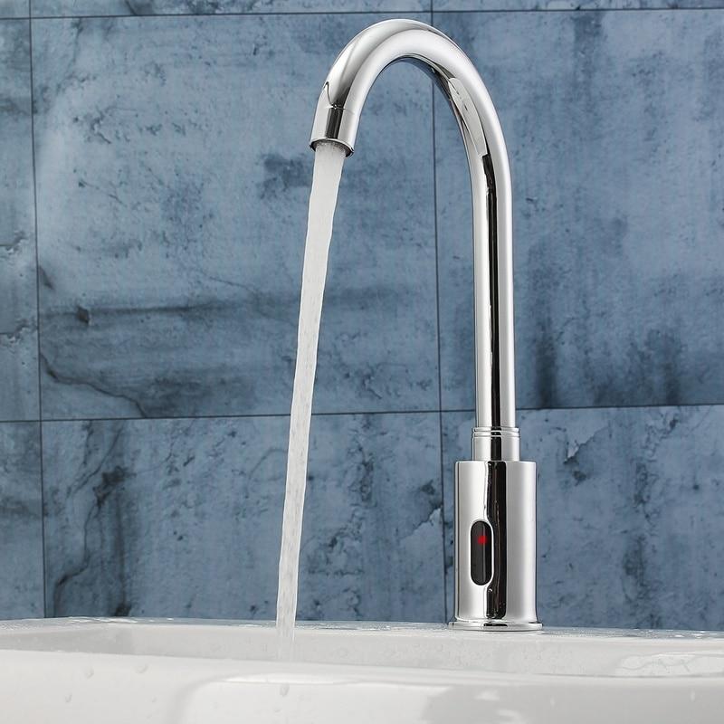 Électronique automatique capteur contrôle cuisine robinet d'eau infrarouge moderne salle de bains évier robinet bassin sens robinet mains Tact gratuit
