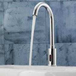Электронный автоматический сенсорный контроль, кухонный кран для воды, инфракрасный современный кран для раковины ванной комнаты, смесите...
