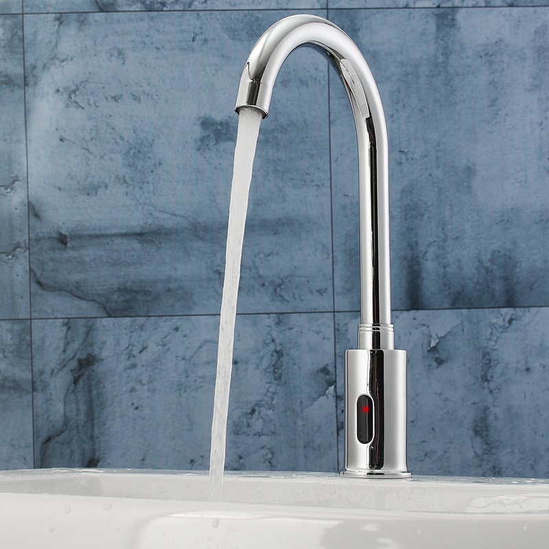 Electronic Automatic Sensor Control Kitchen Water Faucet Infrared Modern Bathroom Sink Tap Basin Sense Faucet Hands Tact Free