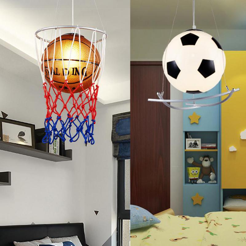 Enfant de Chambre Lustre Creative Personnalité De Football de Basket-Ball Garçon Fille de Bande Dessinée Lampe Chambre Maternelle Pendentif Lampe N1513