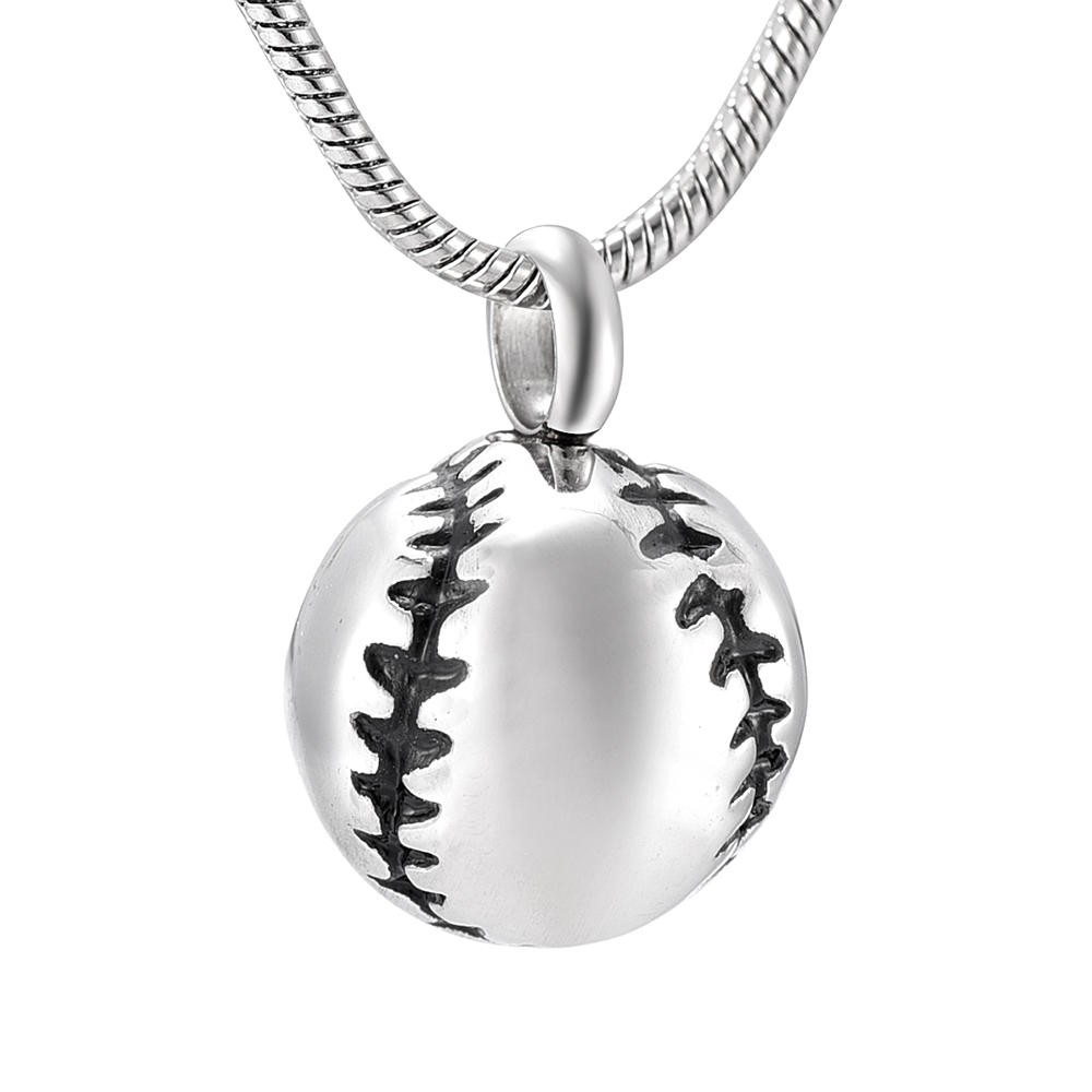 IJD9908 Different Colored Baseball Memorial Urn Jewelry