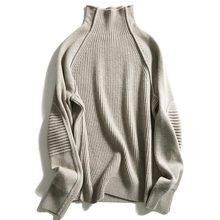 Knitted sweater women's winter high collar sweater  knitted sweater women's clothing knitted sweater lime 231 0173 859