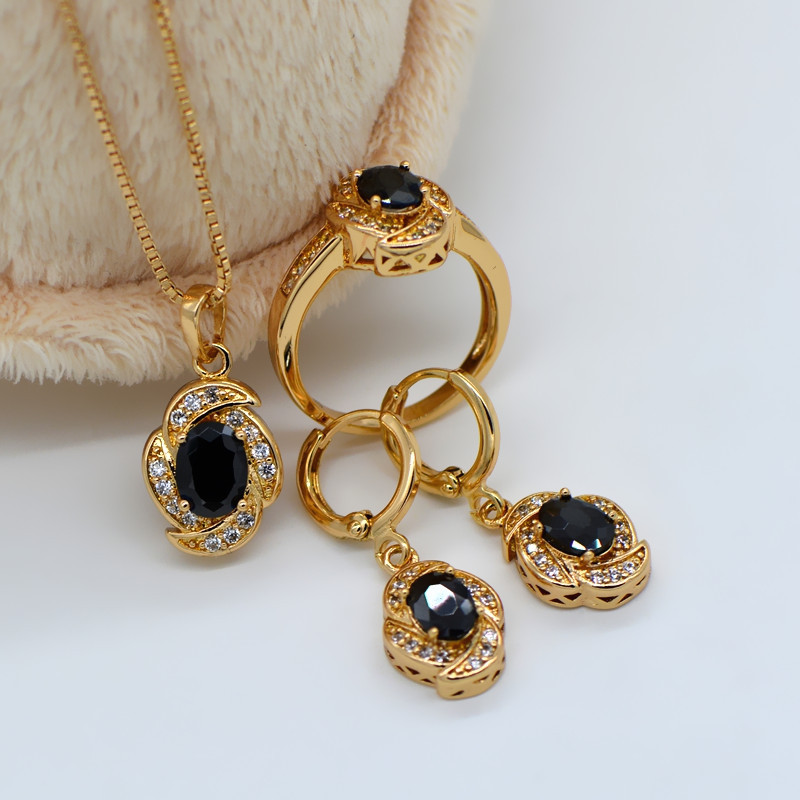 Fashion 18K real gold plated austria crystal women s Beautiful
