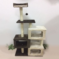 Newest Cat Tree Furniture Tower Climb Activity Tree Scratcher Play House Kitty Tower Furniture Pet Play House Multiple Levels