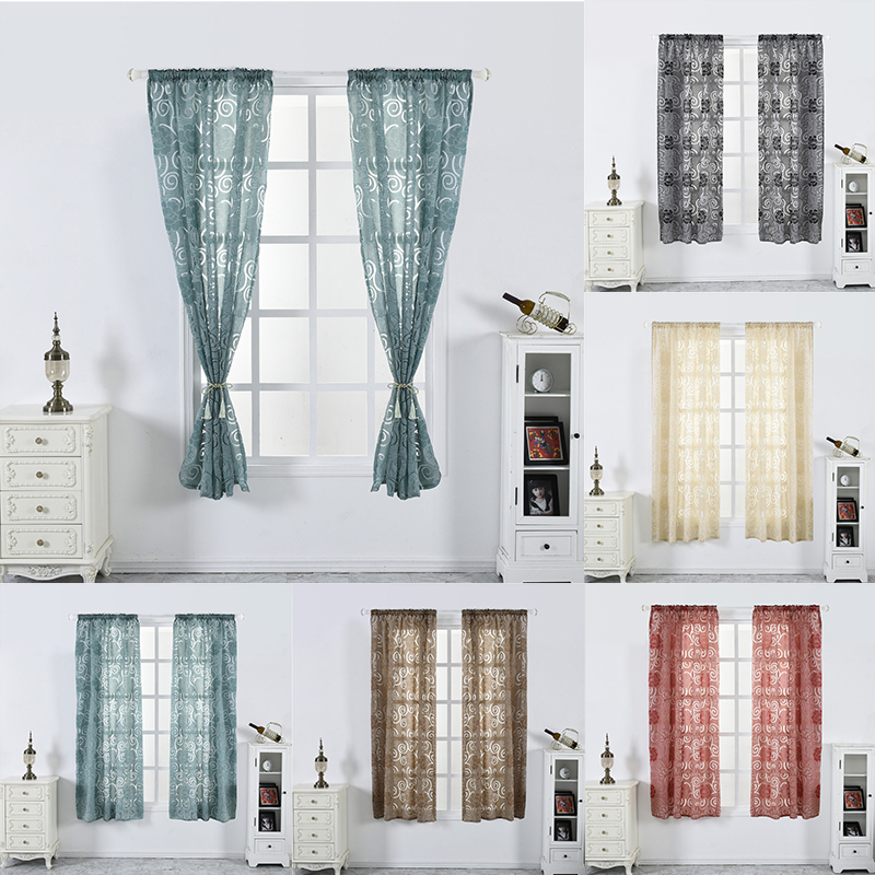 Lantern Cut Flower Bubble Print Blinds Curtains Half Blackout Curtains for Living Room Bedroom Kitchen Window Screening 2019 New(China)