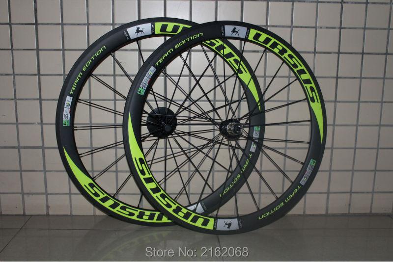 Newest green 700C 50mm clincher rims Road bicycle aero 3K/UD/12K full carbon fibre bike wheelsets 20.5/23/25mm width Free ship 2016 newest road bike t800 matt ud full