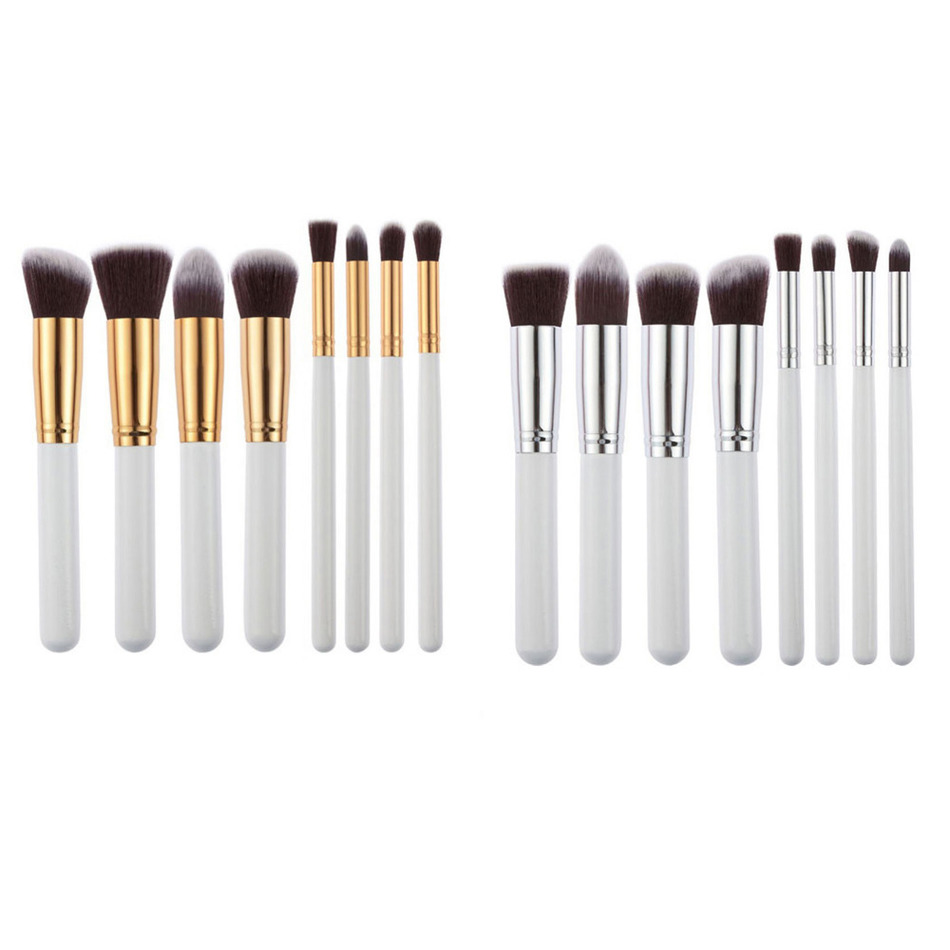 8pcs/set  Makeup Brushes Set Pro Cosmetics Foundation Loose Powder Blusher Shadow eyebrow Liner Brushes Blending make up set