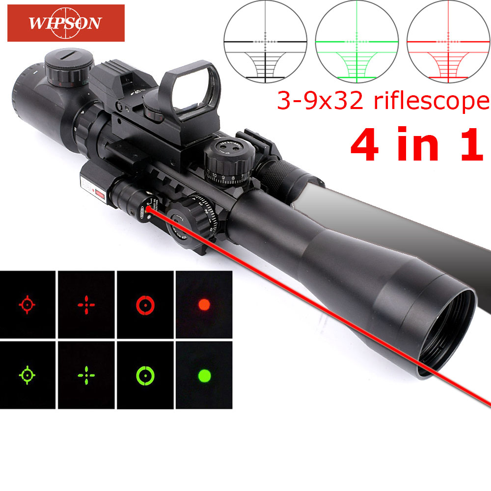 WP Tactical Aim Red Dot Gun Scope Optic Sight Holosun Aiming Device QD High Rail Riser Mount Kill Flash Filter Combo Collimating