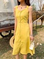 AIYANGA Yellow Summer Dress Women Sexy Beach Holiday Dresses Ladies Off shoulder Casual Bohemian Bow Dress Good Quality