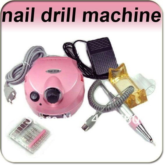 ФОТО 30000 RPMProfessional electric nail drill pen file machine manicure pedicure bits kit with foot pedal tool Free shippping