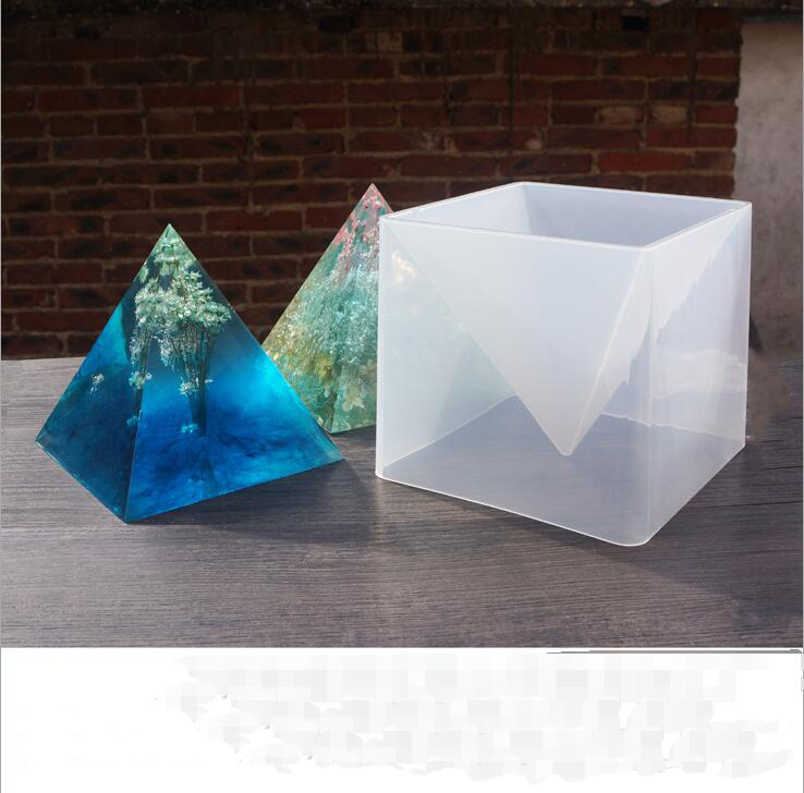 1set  Oversized Pyramid silicone mold DIY jewelry molds epoxy resin molds for jewelry