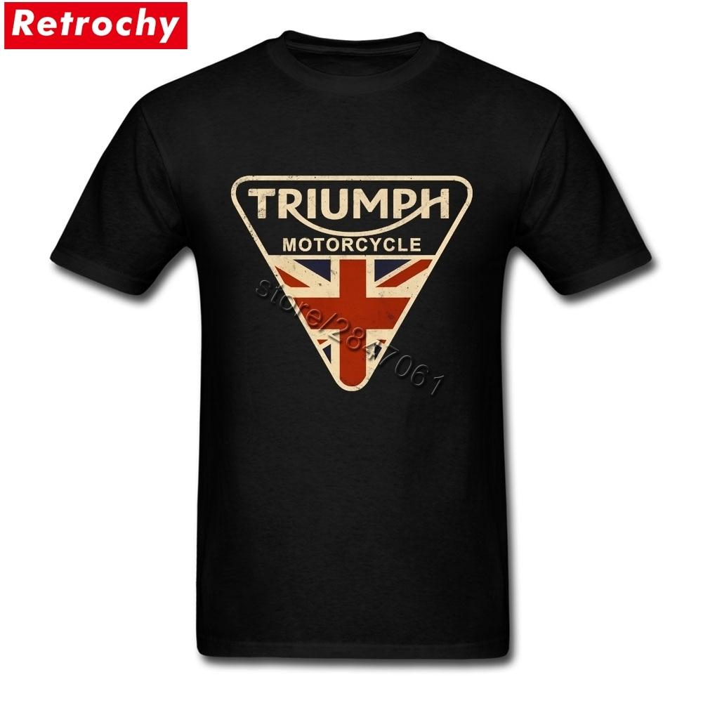 Craked Union Jack Triumph Motorcycle Shirt UK Flag s
