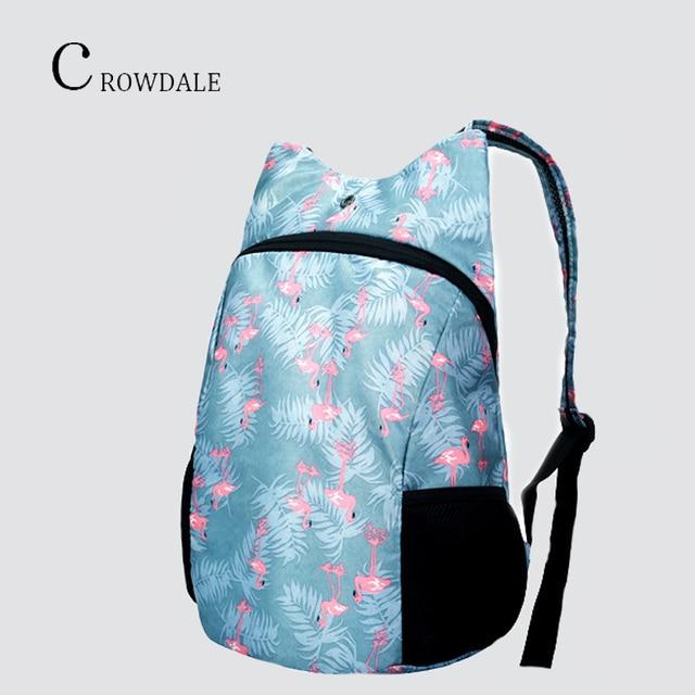 7964320496e CROWDALE rugzak tassen voor vrouwen Opvouwbare waterdichte rugzak Sport  pakket rugzakken voor vrouwen reizen winkelen Draagbare