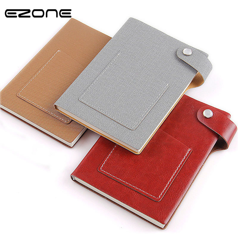 EZONE Creative Style Notebook Candy Color Note Book With Pocket Notepad Planner Traveler Journey Memo Pad School Office Supply 2018 pet transparent sticky notes and memo pad self adhesiv memo pad colored post sticker papelaria office school supplies