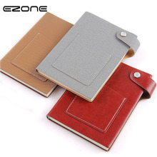 EZONE Creative Style Notebook Candy Color Note Book With Pocket Notepad Planner Traveler Journey Memo Pad School Office Supply