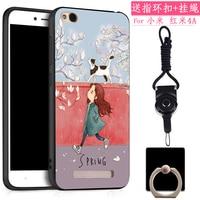 New Fashion 3D Relief Silicon Cartoon Soft Coque Case For Xiaomi Redmi 4A Back Cover Protective