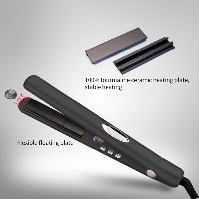 Купить с кэшбэком Multi-function Negative ION Infrared Hair Straightener Ceramic Flat Iron Floating Hair Straightening Iron Hairdressing Tool