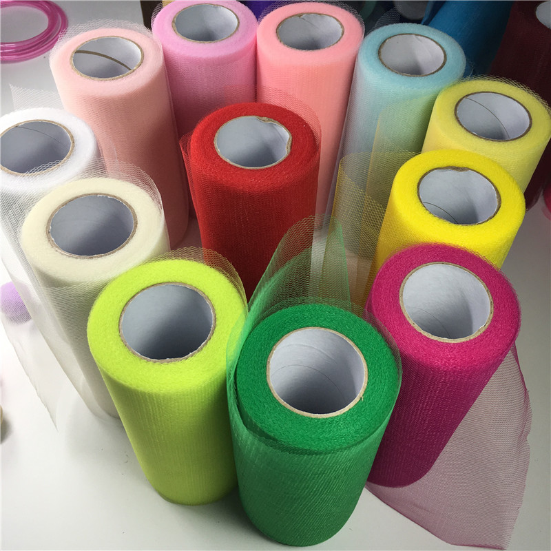 50colors 1pc 22mX15cm Wedding Table Runner Decoration Yarn Roll Crystal Tulle Organza Sheer Gauze Element Wedding Favors Gifts