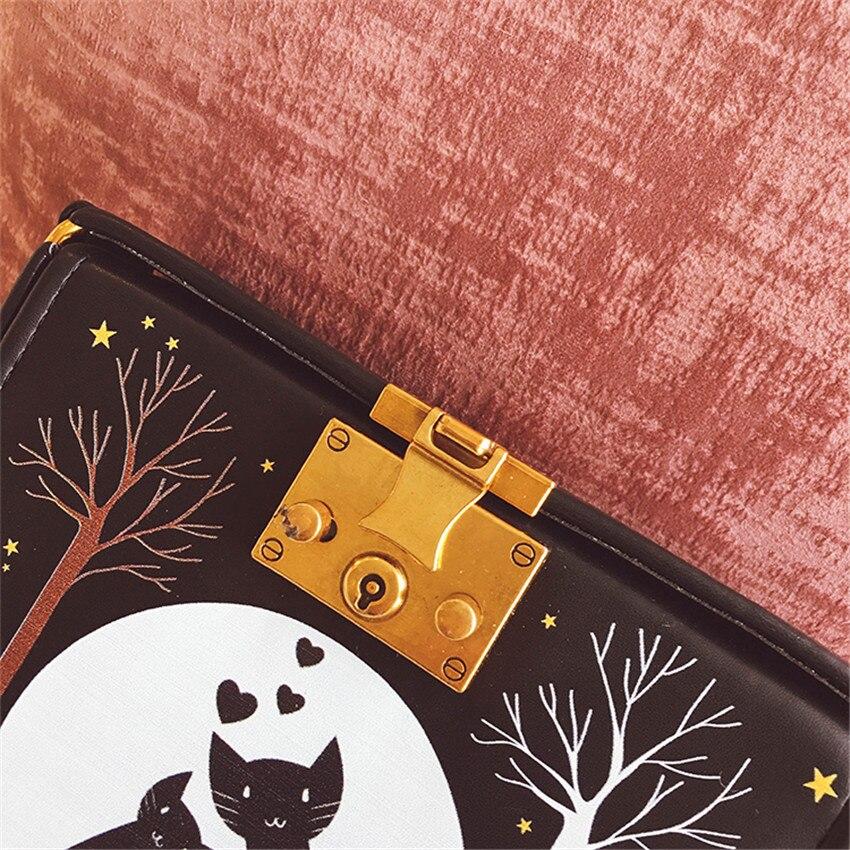 a4e6ed76b44c TOYOOSKY Women Handbags Designer Brands Print Cartoon Box Bags Classic  Women Square Shoulder Bags Ladies Messenger Bag Bolsas-in Shoulder Bags  from Luggage ...