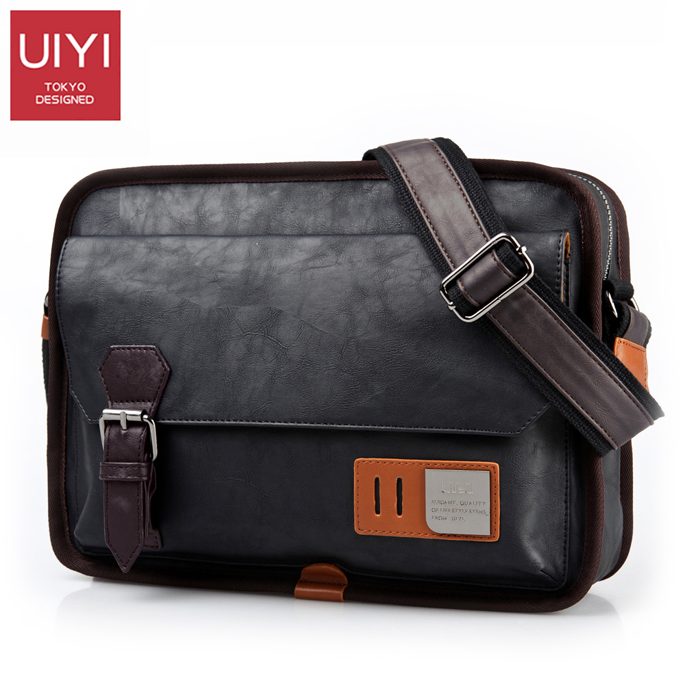 UIYI PU Leather Messenger Bag Men's Bags Crossbody B  Bags For male Casual Shoulder bags handbags high quality 2017 #UYX7058 uiyi male pvc casual shoulder bag black chest bag for men shoulder
