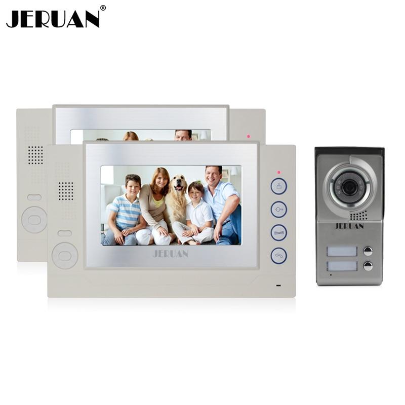 JERUAN Free shipping 7 inch  video door phone intercom system doorphone video recording photo taking doorbell speaker intercom