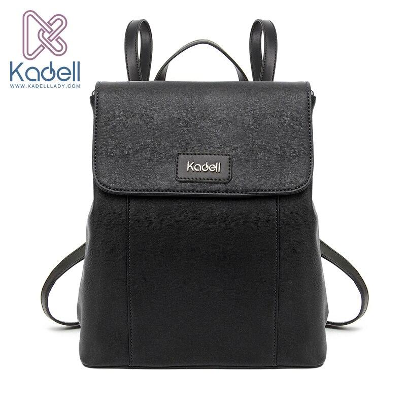 ФОТО Kadell Brand Luxury Vintage 2017 Women Backpacks for Teenage Girls High Quality PU Leather Preppy School Bags Female Bagpack