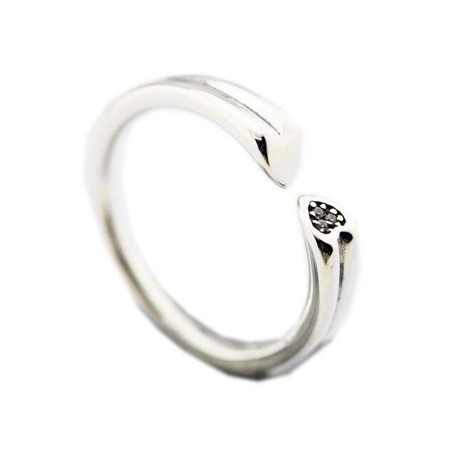 Anello Due Cuori Anelli per le donne Anel masculino argento 925 gioielli uomini anelli 925 sterling silver wedding Ring