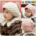 apple cake berets 2015 New Autumn Winter Baby Hat Bonnet Style Kid Crochet Cap Lovely Infant's Headwear