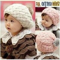 apple cake berets 2015 New Autumn Winter Baby Hat Bonnet Style Kid Crochet Cap Lovely Infant's Headwear