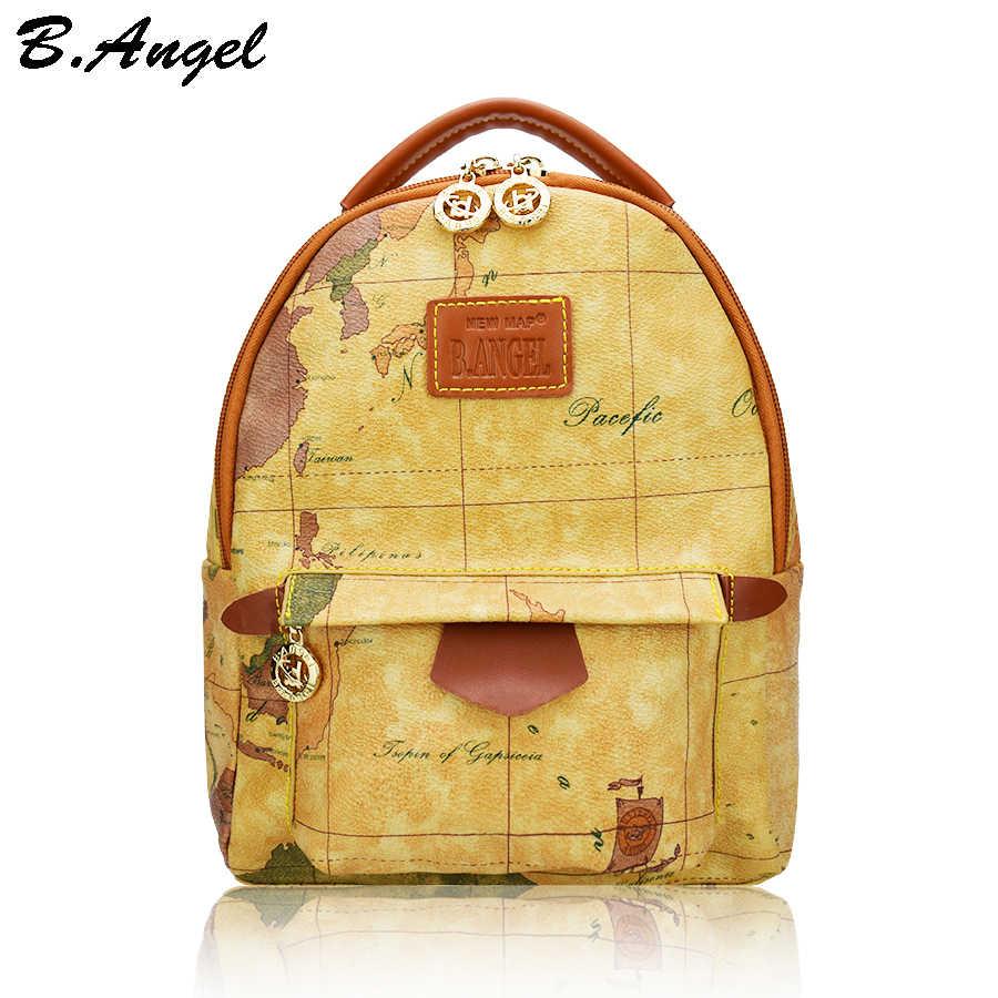 9de646ba3832 Высокое качество маленькая карта рюкзак кожа Детский рюкзак Школьный Сумка  рюкзак винтажная женская сумка corssbody мешок