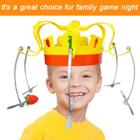 2019 Toy kids Family Novel Chow Crown Game Musical Spinning Crown Snacks Food Party Toy Child funny Family Top Gift New #12137