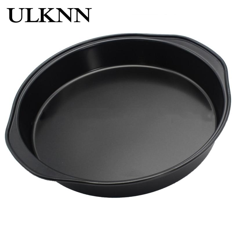 ULKNN Cake Pan Binaural Design Take Light Anti Scalding Making Food DIY Dessert Pizza Crimping Non Slip Stainless Steel Cake Pan