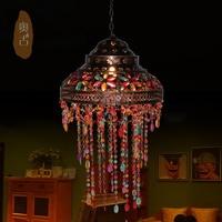 Estetyczne i kreatywny sypialni sztuki żyrandol oświetlenie Azji południowo-wschodniej przedpokój duszpasterska funkcje Tiffany Oświetlenie D-47