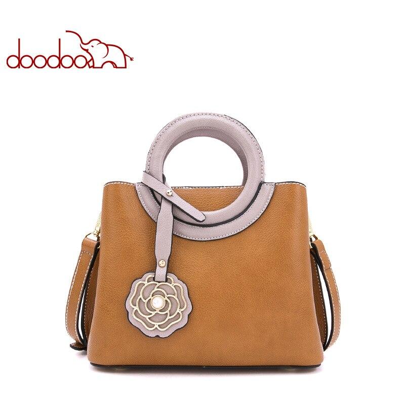 Doodoo Luxury Handbags Women Bags Designer Pu Leather Handbags Women Messenger Bags 2018 New Bags Handbags Women Famous Brands стоимость