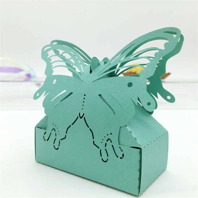Laser Cut Butterfly Wedding Candy Box Wedding Favors Gifts Boxes