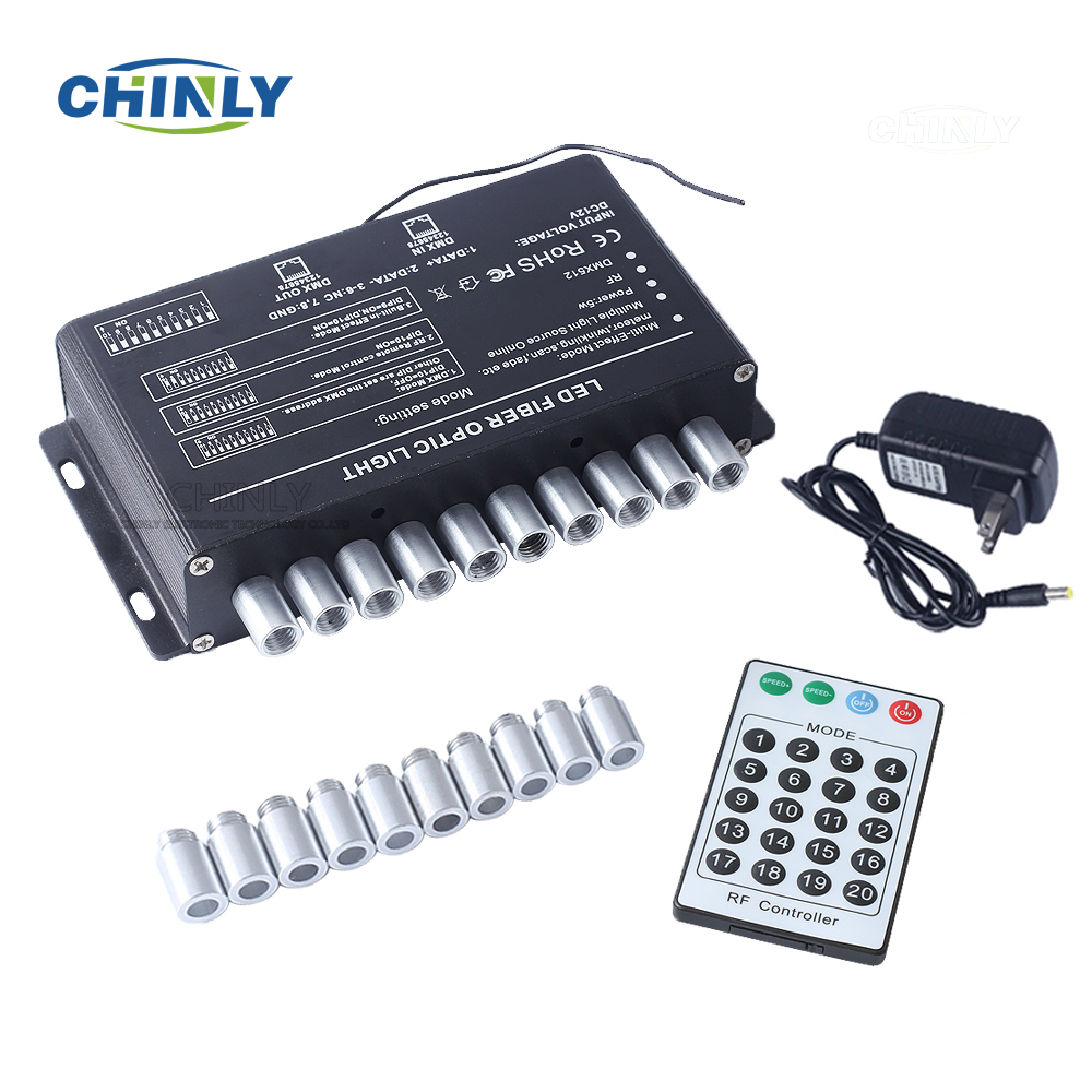NEW White 5W 24Key RF remote Meteor LED Light Engine for Fiber Optic Light useNEW White 5W 24Key RF remote Meteor LED Light Engine for Fiber Optic Light use